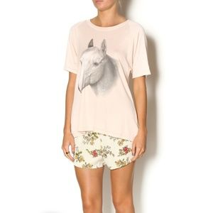 Wildfox HORSE RIDE LESSON TEE